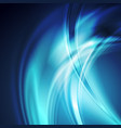 dark blue smooth blurred abstract waves background vector image vector image