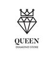 diamond queen logo vector image
