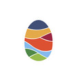 egg colorful logo vector image