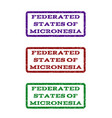 federated states of micronesia watermark stamp vector image vector image