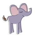 female elephant cartoon with closed eyes vector image