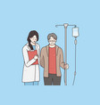 fighting with cancer and healthcare concept vector image