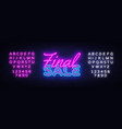 final sale concept banner in fashionable neon vector image