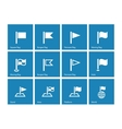 Flag icons on blue background vector image vector image