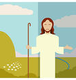 Flat icon Jesus1 vector image vector image
