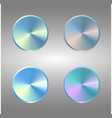 four volume control dial button set of metal blue vector image vector image