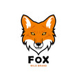 fox head character red fox mascot vector image