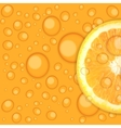 Fresh juicy orange background vector image