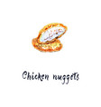 freshly prepared chicken nuggets vector image