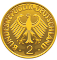 German 2 Dollar Coin vector image vector image