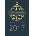 German Christmas and New Year 2017 background vector image vector image
