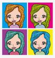 girl pop art cartoon vector image vector image