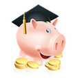 graduation piggy bank vector image vector image