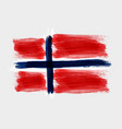 grunge watercolored flag of norway on gray vector image vector image