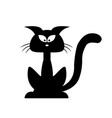 halloween black cat silhouette cartoon clipart vector image