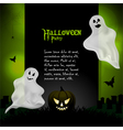 Halloween ghost background with sample text vector image vector image