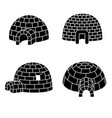 igloo icon set simple style vector image vector image