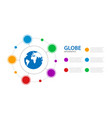infographics business with a globe in center vector image vector image