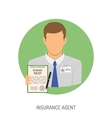 Insurance Agent Flat Icon vector image vector image