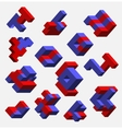 Isometric abstract geometric vector image vector image
