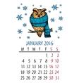 January owl calendar vector image
