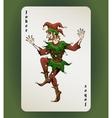 Joker card vector image