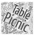 Kids Picnic Tables Should You Buy One for Your vector image vector image