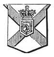 knight and baronet nova scotia with a lion vector image vector image