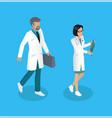 medical worker medics set vector image vector image