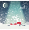 merry christmas background calm vector image vector image