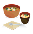 miso soup vector image vector image