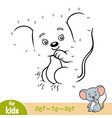 numbers game education game for children mouse vector image vector image