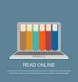online library concept vector image vector image