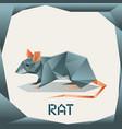 origami grey rat vector image vector image