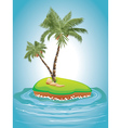 Palm Tree on Island vector image vector image