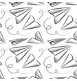 paper plane seamless pattern vector image vector image