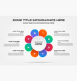 pie chart percentage infographics element of vector image