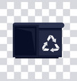 pixelated trash can for videogames vector image