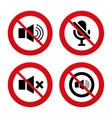 Player control icons Sound microphone and mute vector image vector image