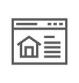 real estate line icon vector image vector image