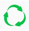 recycling icon arrows circle symbol eco waste vector image vector image