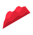 red graph chart icon isometric style vector image vector image