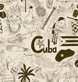 Retro sketch Cuban seamless pattern vector image vector image