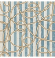Ropes pattern in marine style vector image vector image
