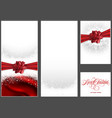set christmas background vector image vector image