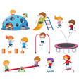 set of doodle kids vector image vector image