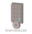 smart home lock icon cartoon style vector image vector image