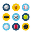 sports related icons vector image vector image