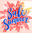 summer sale exotic and tropic background design vector image vector image