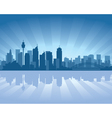 sydney australia skyline with reflection in water vector image vector image